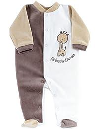Kinousses Pyjama pour Bébé Motif Girafe Choco