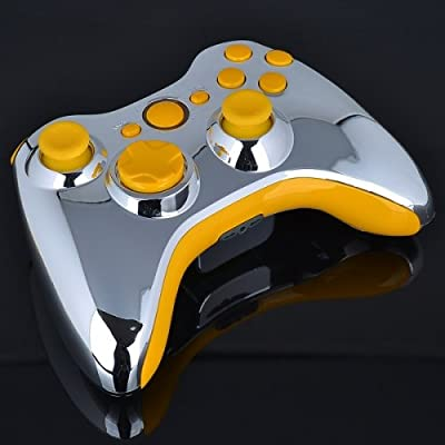 Xbox 360 Wireless Controller - Chrome with Yellow Buttons