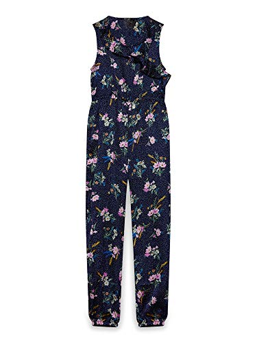 Navy Yumi (Girl) Meadow Floral Jumpsuit