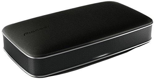 Pioneer FREEmeXW-LF3-K portabler Bluetooth Lautsprecher (360 Grad Sound-Design, Echt-Leder Oberfläche NFC, integrierter Akku) schwarz