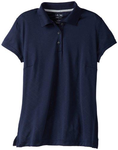 adidas Golf Damen Climacool Textured Solid Polo, Mädchen Damen, Marineblau/weiß, Large -