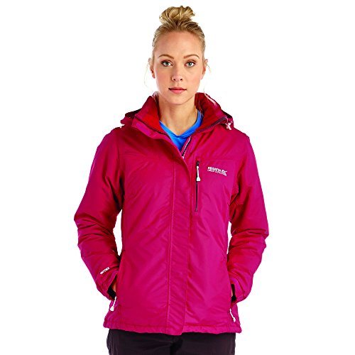 Regatta Ladies Lamont Water Proof Breathable Insulated Coat Black Rosso