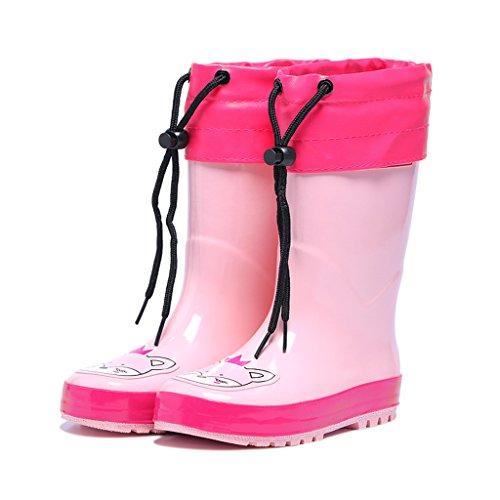Vine Botas de lluvia para Niños Botas de Agua Bebé Botas a Prueba de Agua con Cubierta del zapato