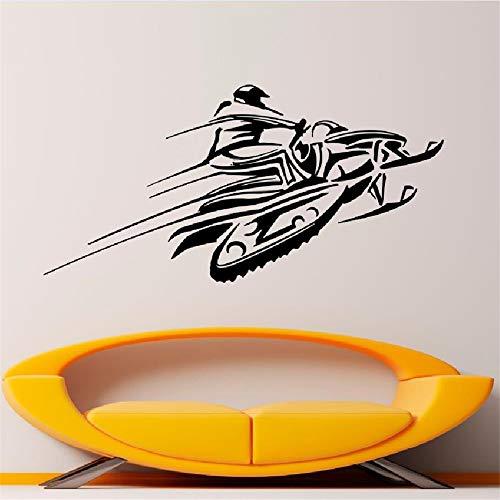 Ajcwhml Schnee Auto Wand Vinyl Aufkleber Aufkleber Rennen Winter Extremsport Kunst Design Wandbild Innenausbau Haus Zubehör WW-178 42X86CM -