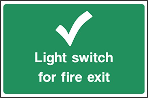 Notausstieg Schild Fire Escape Light Switch