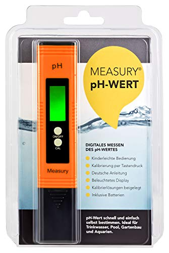 Measury pH Messgerät Wasser, pH Tester Pool - pH Wert Messgerät für Urin, pH-Wert messen Aquarium - pH Meter Digital Messer