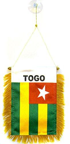 AZ FLAG Fanion Togo 15x10cm - Mini Drapeau togolais 10 x 15 cm spécial Voiture - Bannière
