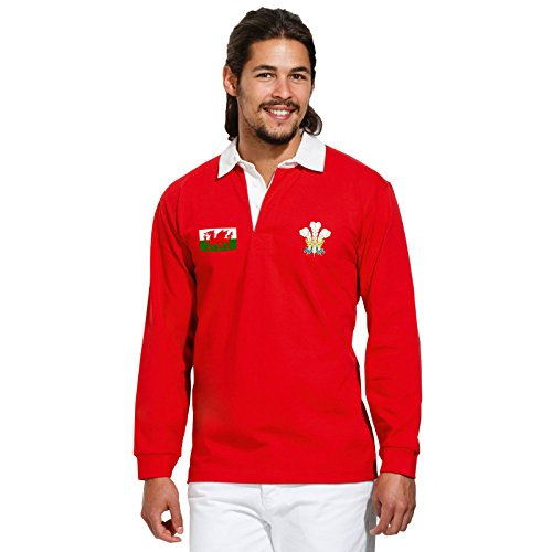 Vintage Wales Polo-Shirt Welsh Rugby