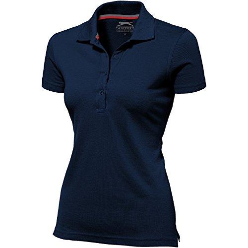 Slazenger Advantage Damen-Poloshirt, kurzärmlig - Navy, XXL