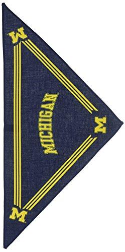 Sporty K9 Hund Bandana–Universität von Michigan, Michigan Wolverines, Small, Blue, Maize