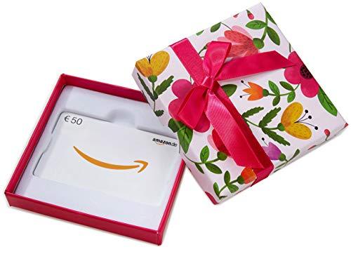 Amazon.de Geschenkkarte in  Geschenkbox - 50 EUR (Blumen)