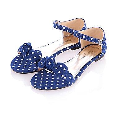 LvYuan Sandali-Tempo libero Formale Casual-Club Shoes-Piatto-Tessuto-Nero Blu Rosso Blue