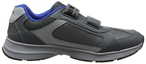 Geox Unisex-Erwachsene J Top Fly Boy B Sneaker Grau (Dk Grey)