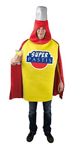 Super Kostüm Clown - P'tit Clown-46052-Super-Pastis-Kostüm für Erwachsene- Einheitsgröße