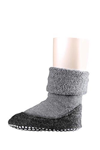 FALKE Kinder Socken Cosyshoe rutschfeste Haussocken - 1 Paar, Gr. 23-24, grau, Stoppersocken, Jungen Mädchen