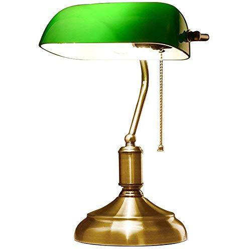 lampada da banca - vetro opaline - 38 cm - catena