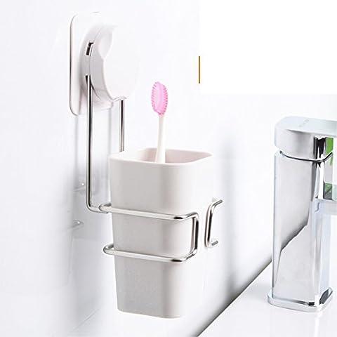 Sucker Tumbler Set/ Plastic lavage tasse/Porte brosse à dents Creative/ brosse coupe-A