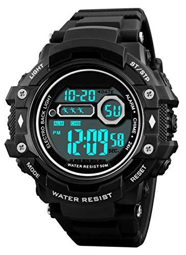 Reloj de Pulsera Digital para Hombres, Reloj Deportivo Militar Impermeable a Prueba de Agua...