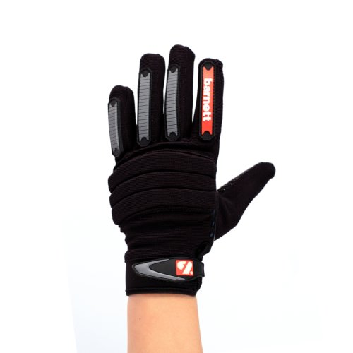 FKG-02 Fit linebacker football gloves, LB, RB, TE, Black, barnett Test