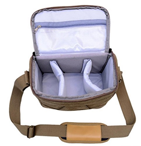 Z&HXborsa a tracolla Fotografia reflex borse fotocamera zaino impermeabile multifunzionale DV , blue , 22*17*11cm Khaki