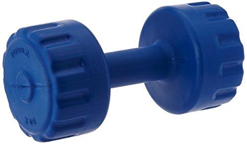 Aurion PVC3 Plastic Dumbbell Set, 3Kg x 2 (Blue)