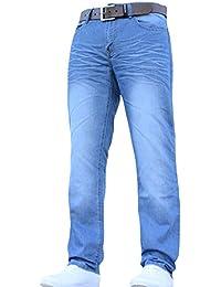 Mens Crosshatch New Farrow Denim Jeans With Free Belt