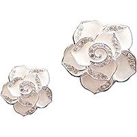 Livecity® 2Strass Blumen Form Auto-Lufterfrischer Aromatherapie Diffusor Vent Clip preisvergleich bei billige-tabletten.eu