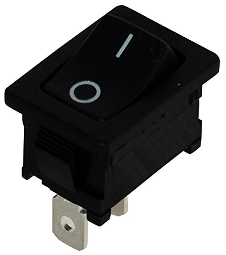 Preisvergleich Produktbild Aerzetix: Knopfschalter Switch Kippschalter Druckschalter SPST OFF-(ON) 10A/250V 16A/12V Schwarz 1 Positionen