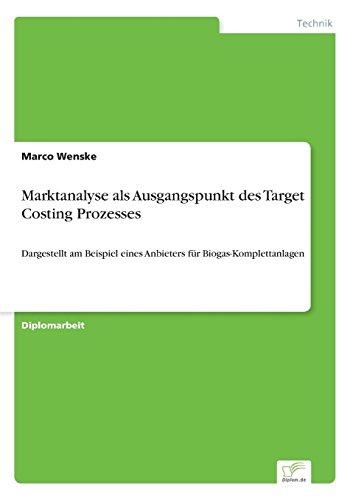 Marktanalyse als Ausgangspunkt des Target Costing Prozesses: Dargestellt am Beispiel eines Anbieters für Biogas-Komplettanlagen