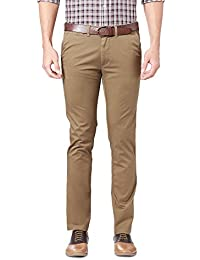 Peter England Men's Super Slim Fit Casual Trousers