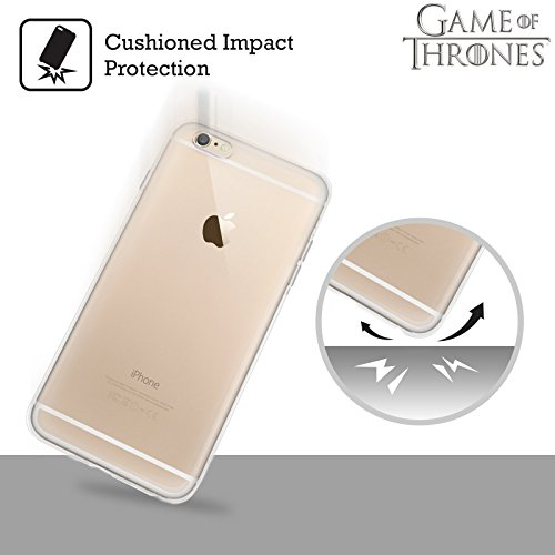 Offizielle HBO Game Of Thrones Stark House Mottos Soft Gel Hülle für Apple iPhone 7 / iPhone 8 Baratheon