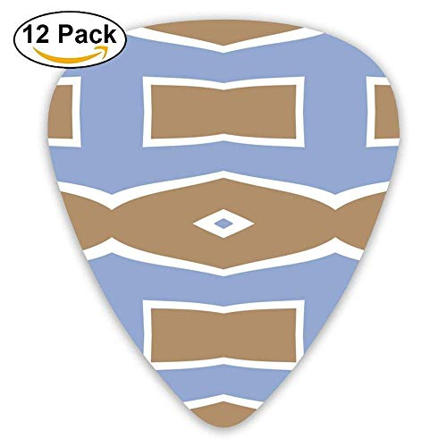 Bowties And Diamonds 3 Fabric Guitar Picks For Electric Guitar 12 Pack 3 Bowties