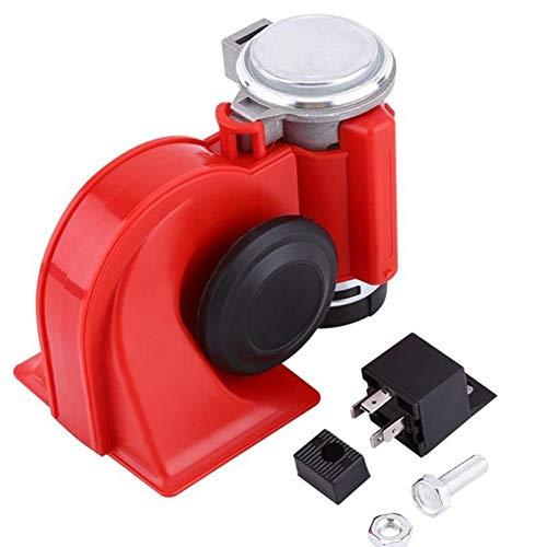 PoeHXtyy 12 V Dual Tone Trompete Super Laute Schnecke Elektrische Pumpe Air Horn Sirene für Auto LKW Bike Motorrad