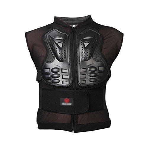 Dexinx Motorrad Full Body Armor Weste Erwachsene Sleeveless Street Bike Brustschutz Stilvolle Cool Bike Jacke Protector Schwarz M