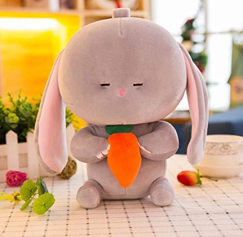 WYBL Süße Große Fett Kaninchen Essen Karotten Weihnachten Geburtstagsgeschenke Für Jungen Mädchen Kinder 25cm grau