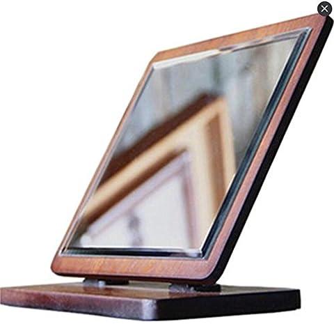 XIAOMEIXI Miroir de miroir en bois massif Miroir de maquillage Retro Single Side Square Facile à appliquer cadre