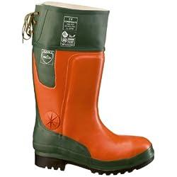 Feldtmann 35512/41 - Botas de leñador de pino de tamaño de color naranja/verde 7 de clase 2
