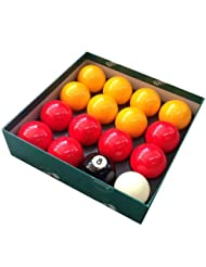 Aramith Premier Casino Red and Yellow 2 (50.8mm) English Pool Balls by Aramith