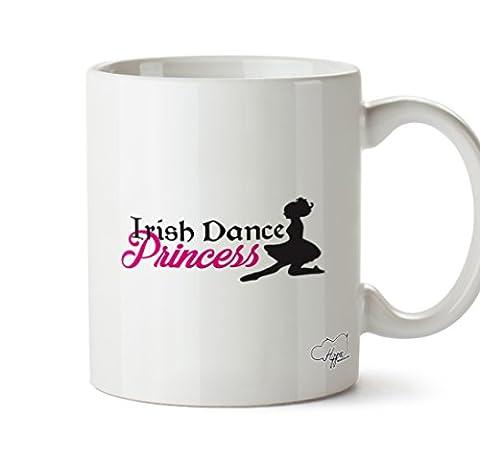 Hippowarehouse Irish Dance Mug Princesse 283,5gram Tasse, Céramique, blanc, One Size (10oz)