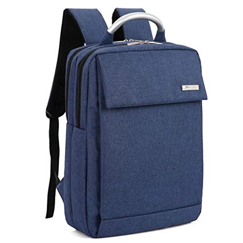 Große Business-Taschen 17-Zoll-Laptop-Rucksack Outdoor-Reiserucksack Große College School Bookbag für Reisen/Business/College/Frauen/Männer (Color : Blue)