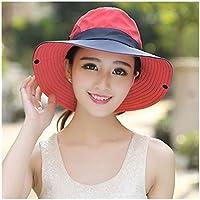 Sombrero Señoras de la cola de caballo Sombrero Protección UV UPF verano del borde ancho transpirable sombrero for el sol al aire libre Senderismo Pesca Cubo impermeable sombrero de Boonie