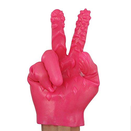 TUDUZ Magic Handschuhe Erotik Fingervibrator Spielzeug Für Frauen Und Männer Fingerüberzieher Anal G-Punkt Massage Sticks Spielzeug Massage Roller Handschuhe (Pink, A) (Herren-magic-handschuhe)