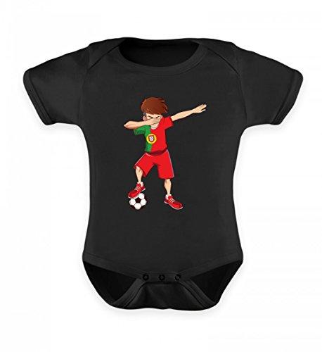 ALBASPIRIT Hochwertiges Baby Body - Dabbing Fussball Spieler Dab Portugal Fan T-Shirt Portugiesischer Fussballer Geschenk