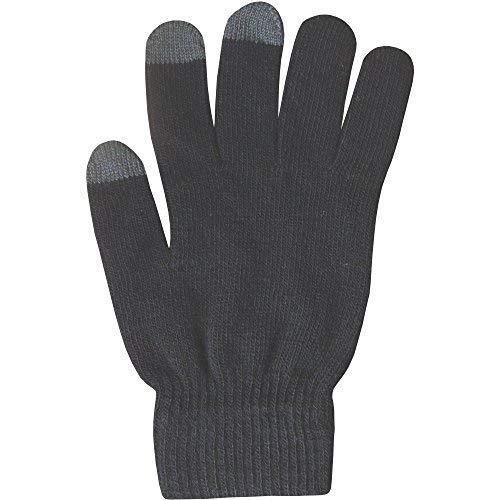 Teenager's Unisex Super Soft Knit Thermal Touch Screen Winter Gloves (Black)