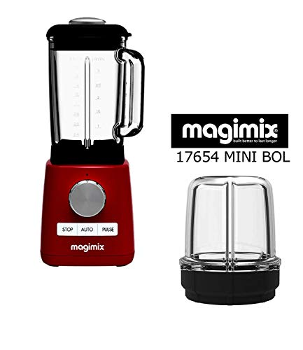 Magimix Power Blender Batidora rojo new 1300w -22000 rpm- mas poderoso + MINI VASO y pequeñas preparaciones...
