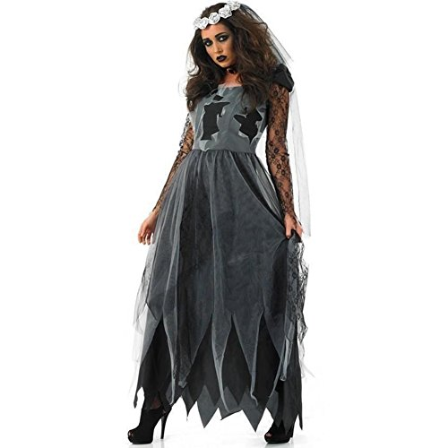 Ghost Braut Kostüm - FairOnly Frauen Hell Ghost Zombie Braut Kostüm Cosplay Halloween Kostüm Party Kleid