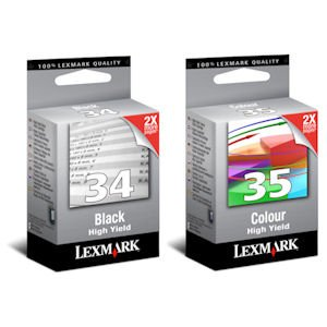 Preisvergleich Produktbild Tonerkartusche, für Lexmark 34XL Schwarz und 35XL Farbe