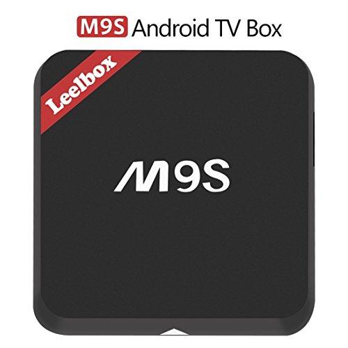 Leelbox M9S Android TV Box, 2GB RAM+16GB ROM Smart TV Box/Dual-WIFI de 2.4GHz y 5.8GHz/BT 4.0/1000M LAN/H.265/4K(60 HZ)/3D/HD