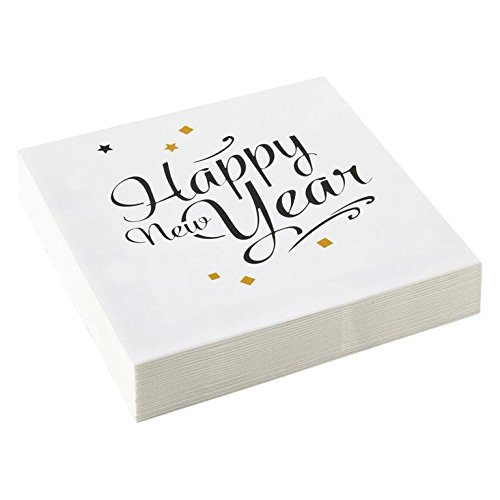 20-Stck-SERVIETTEN-HAPPY-NEW-YEAR-33-x-33-cm