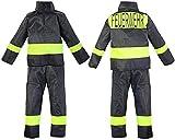 Nerd Clear Feuerwehr Kostüm für Kinder | 2-teilig: Jacke, Hose | ideal für Karneval & Fasching | Jungen & Mädchen |: Größe: 104-110